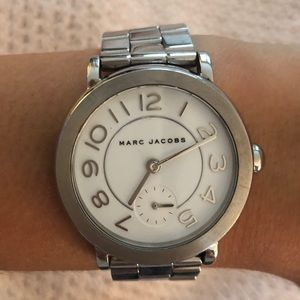 Marc Jacobs Silver Riley Watch